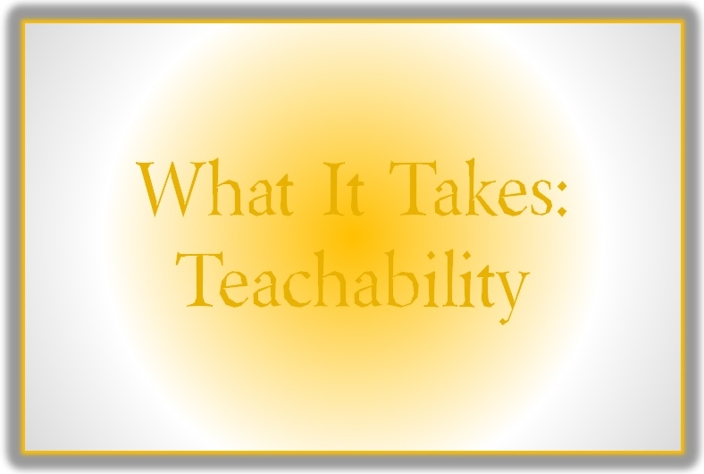 Blog Post 60 What It Takes Teachability