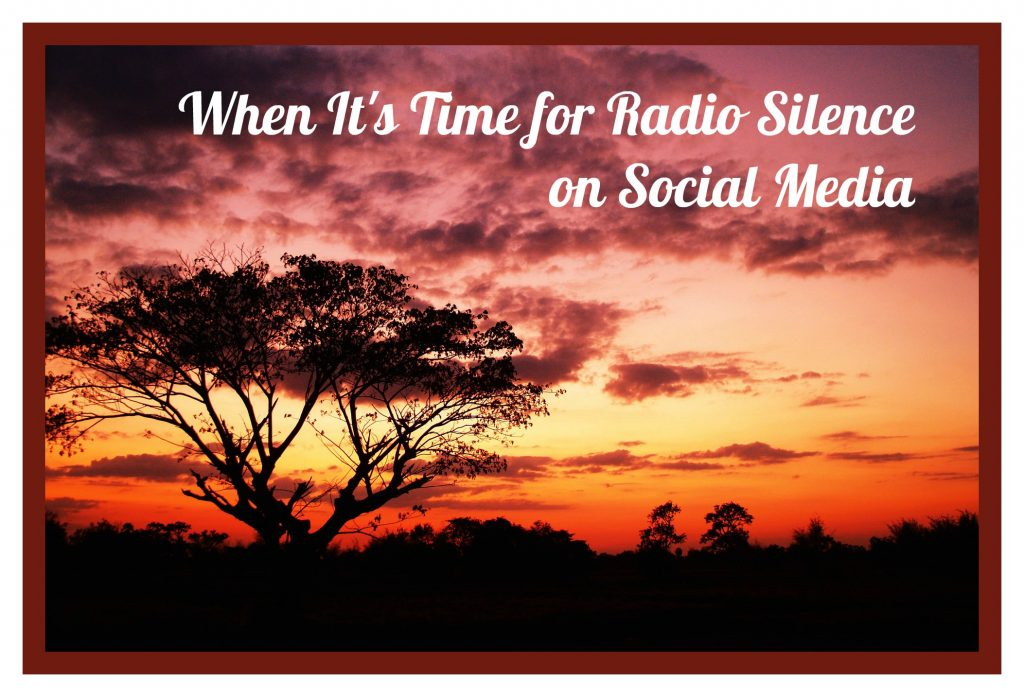 When It's Time for Radio Silence on Social Media