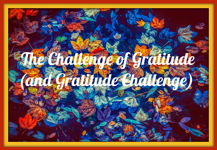The Challenge of Gratitude (and Gratitude Challenge)