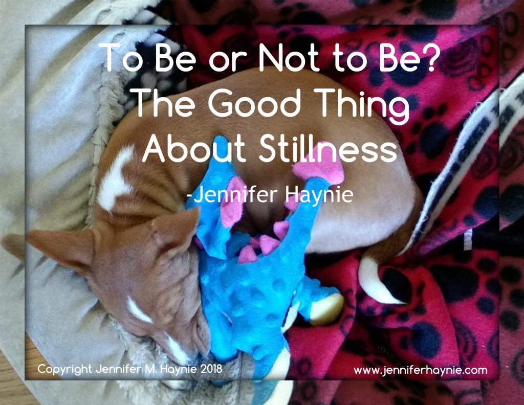 To Be or Not to Be? The Good Thing About Stillness